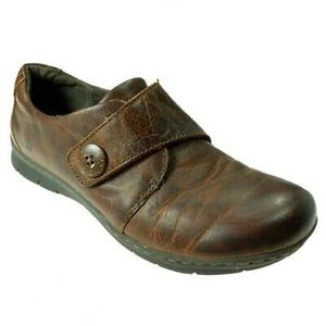BOC BORN Brown Leather Comfort Shoes Womens 8.5 M